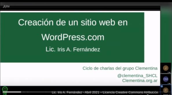 Enlace a la charla 3: Creación de un sitio en WordPress.com