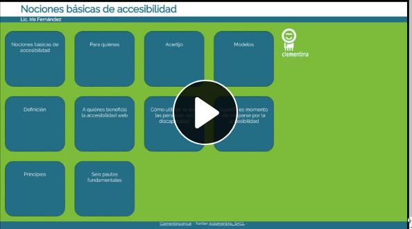 Acceso a la grabación de la charla sobre Accesibilidad web.